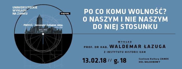 WYDARZENIE: Wykład Uniwersytecki na Zamku w lutym wygłosi prof. dr. hab. Waldemar Łazuga